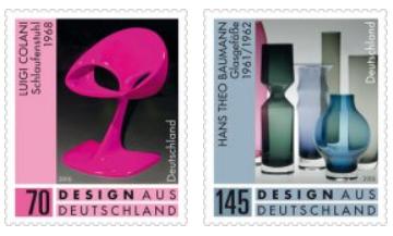 Briefmarkenserie »Design aus Deutschland«